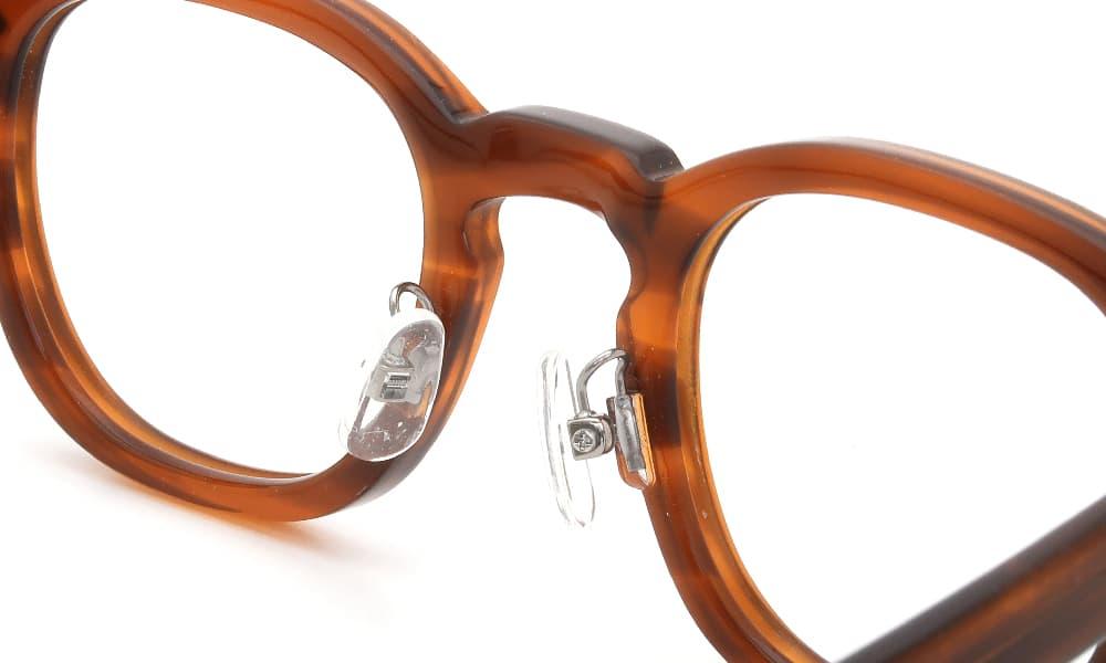 眼鏡の鼻あて・パット交換 JTO AR46-24 AMBER 後
