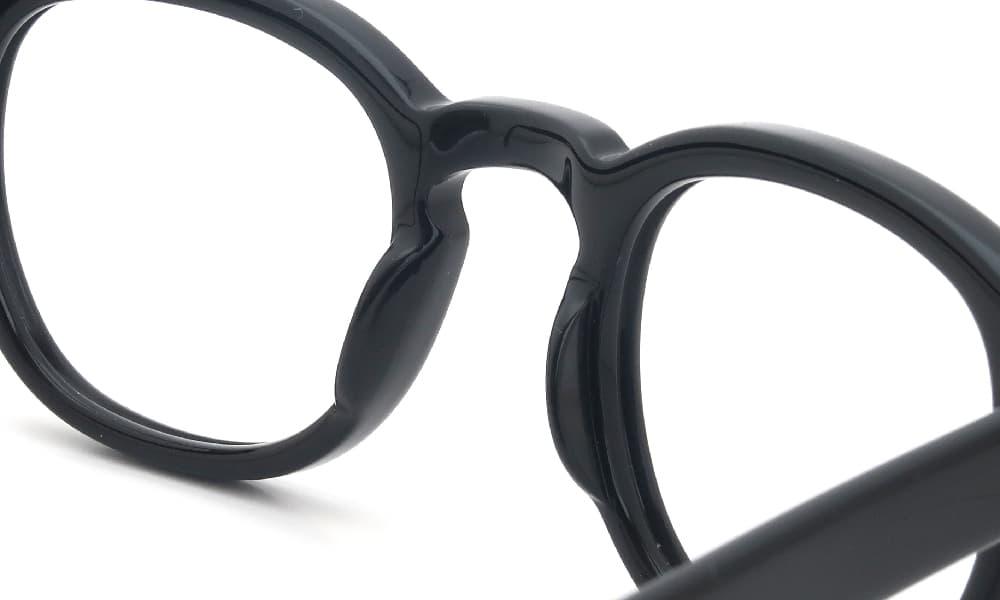 鼻盛り加工 MOSCOT model: LEMTOSH 46 color: Black 前