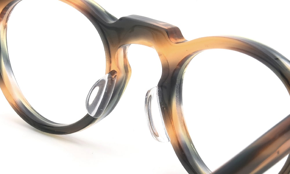 眼鏡の鼻あて・パット交換 Lesca VINTAGE Panto 6mm Orange-Green-Purple-Tiers 後
