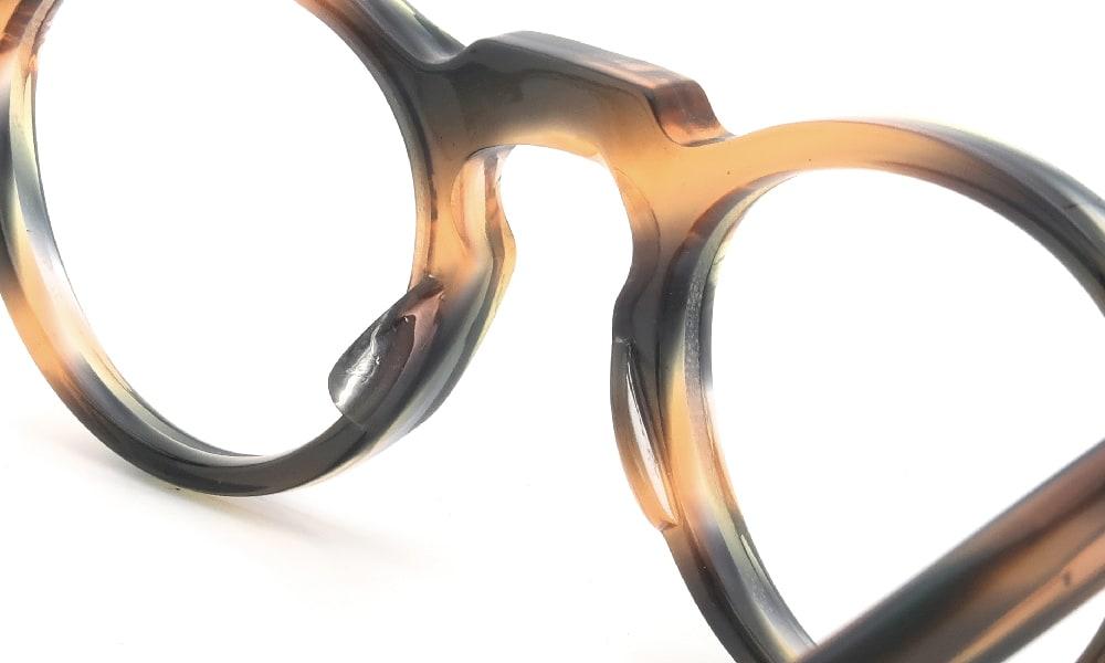 眼鏡の鼻あて・パット交換 Lesca VINTAGE Panto 6mm Orange-Green-Purple-Tiers 前