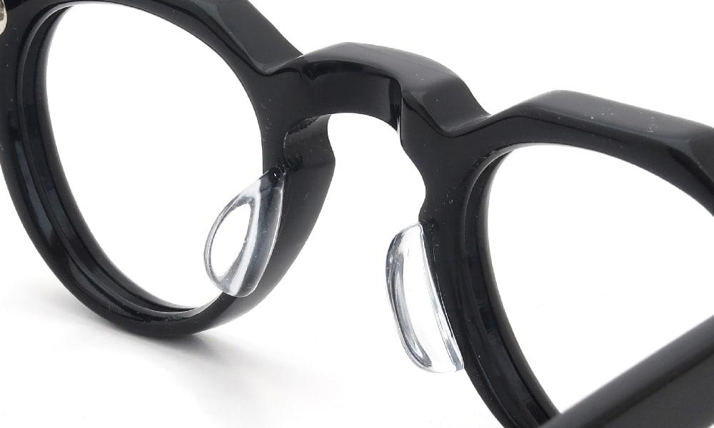眼鏡の鼻あて・パット交換 Lesca BERTOLD Black 後