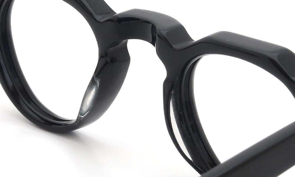 眼鏡の鼻あて・パット交換 Lesca BERTOLD Black 前