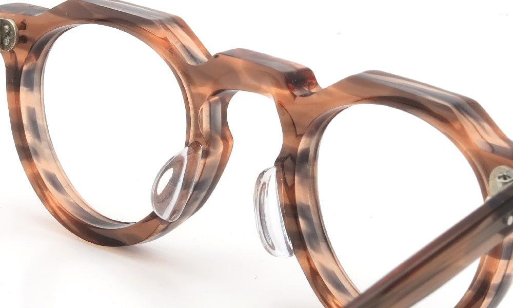 眼鏡の鼻あて・パット交換 Lesca VINTAGE Crown-Panto Pink-Grey-sasa 8mm 後