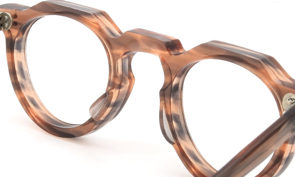 眼鏡の鼻あて・パット交換 Lesca VINTAGE Crown-Panto Pink-Grey-sasa 8mm 前