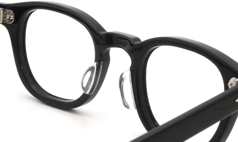 眼鏡の鼻あて・パット交換 JULIUS TART OPTICAL AR-46-24 BLACK PL-102A 後