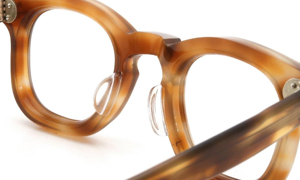 眼鏡の鼻あて・パット交換 FRANCE Vintage 1950s 3-DOTS RIGHT-ANGLE-WELLINGTON LIGHT-DEMI 後