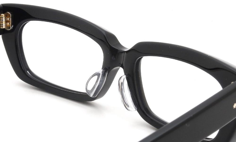 眼鏡の鼻あて・パット交換 Oliver Goldsmith KOLUS-s Nero 後