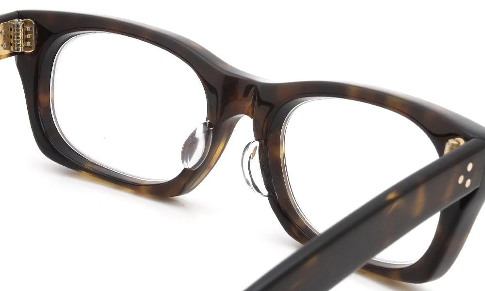 眼鏡の鼻あて・パット交換 Oliver-Goldsmith VICE CONSUL-s DarkTortoiseshell 後