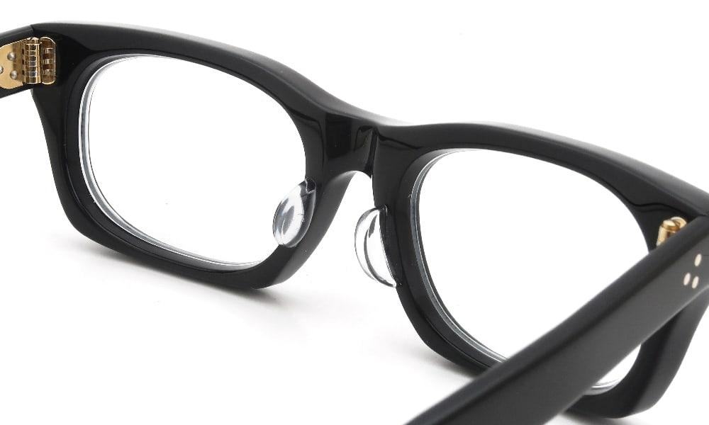 眼鏡の鼻あて・パット交換 Oliver-Goldsmith VICE CONSUL-s Nero 後