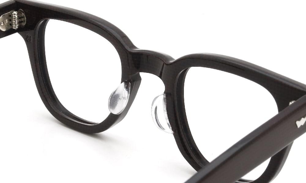 眼鏡の鼻あて・パット交換 Bacara BRYAN CODEBAN 44-24 CORDOVAN 後