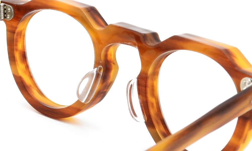 眼鏡の鼻あて・パット交換 Lesca VINTAGE Crown Panto 8mm Light-havana 後