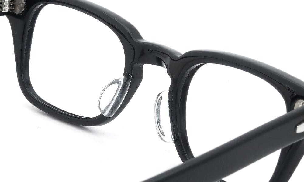 眼鏡の鼻あて・パット交換 RBausch-Lomb WHARTON BLACK 48-24 後