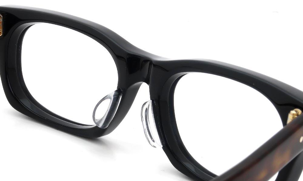 眼鏡の鼻あて・パット交換 Oliver Goldsmith VICE CONSUL-s Black-Tortoise 後