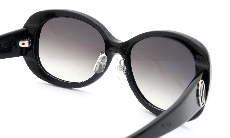 眼鏡の鼻あて・パット交換 Cartier 5203251 BLACK 後
